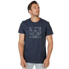 Brunotti Tim Print heren shirt blauw