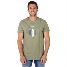 Brunotti Tim Print heren shirt groen dessin