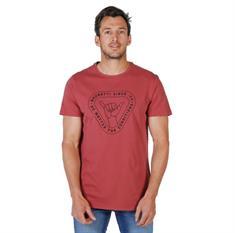 Brunotti Tim Print heren shirt steenrood