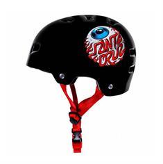 Bullet Santa Cruz Eyeball bmx/skate helm zwart
