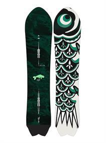 Burton Fish 3D freeride snowboard donkergroen
