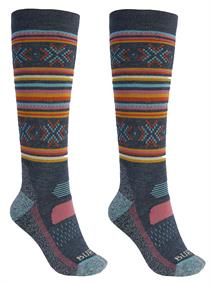 Burton Performance Midweight Sock Woman skisokken denim