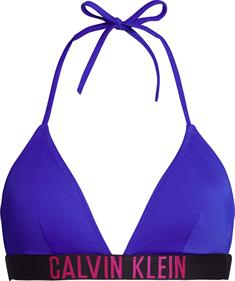 Calvin Klein KWOKW00883 Fixed Triangle bikini top blauw