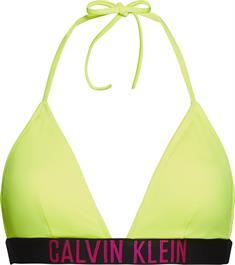 Calvin Klein KWOKW00913 Fixed Traingle bikini top geel