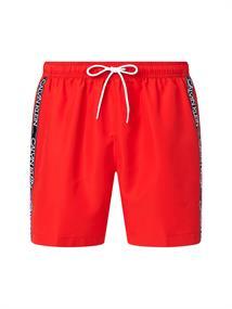 Calvin Klein Medium Drawstring heren beach short rood
