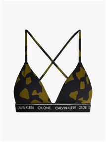Calvin Klein Triangle Top bikini top groen dessin