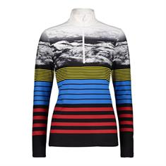 Campagnolo Woman Sweat Softtech dames ski pulli met rits geel