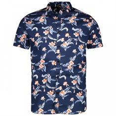 Cars Haway hemd heren blouse korte mouw marine
