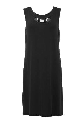 Afbeelding van Charmor 342360.309 Dames strand jurk ZWART