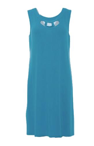 Afbeelding van Charmor 342360.386 Dames strand jurk kobalt