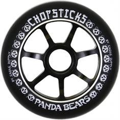 Chopsticks Panda Bears 100MM step wielen zwart
