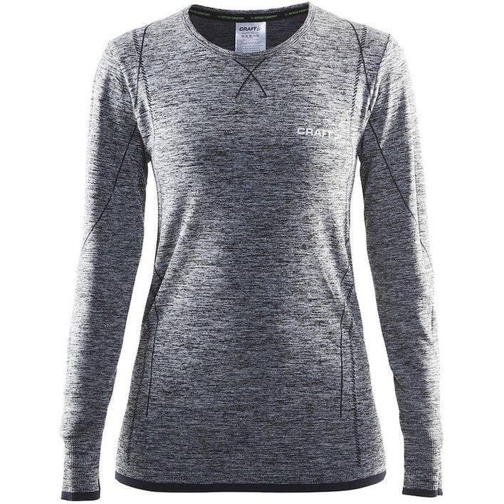 Afbeelding van Craft Active Comfort Dames thermoshirt grijs dessin
