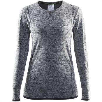 Craft Active Comfort Dames thermoshirt grijs dessin