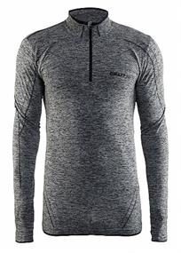 Craft Active Comfort Zip heren ski pulli grijs dessin