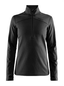 Craft Core Gain midlayer dames ski pulli met rits zwart