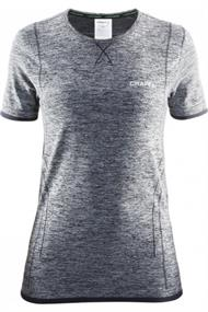 Craft Dry Active Comfort K.M dames thermoshirt grijs dessin