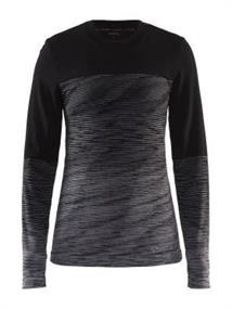 Craft Marino Ronde Hals heren thermoshirt zwart dessin