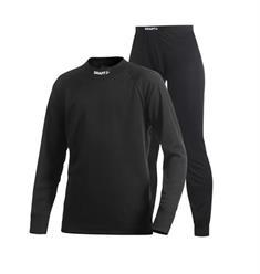 Craft Set prijs 2-pack JR junior thermokleding set zwart
