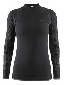 Craft Warm intensity dames thermoshirt zwart dessin