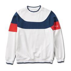 Daimond Fordham Crewneck heren sweater wit