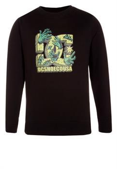 DC Shoes braking crew black Jongens sweater ZWART