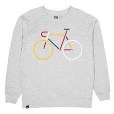 Dedicated Malmoe color bike heren sweater midden grijs