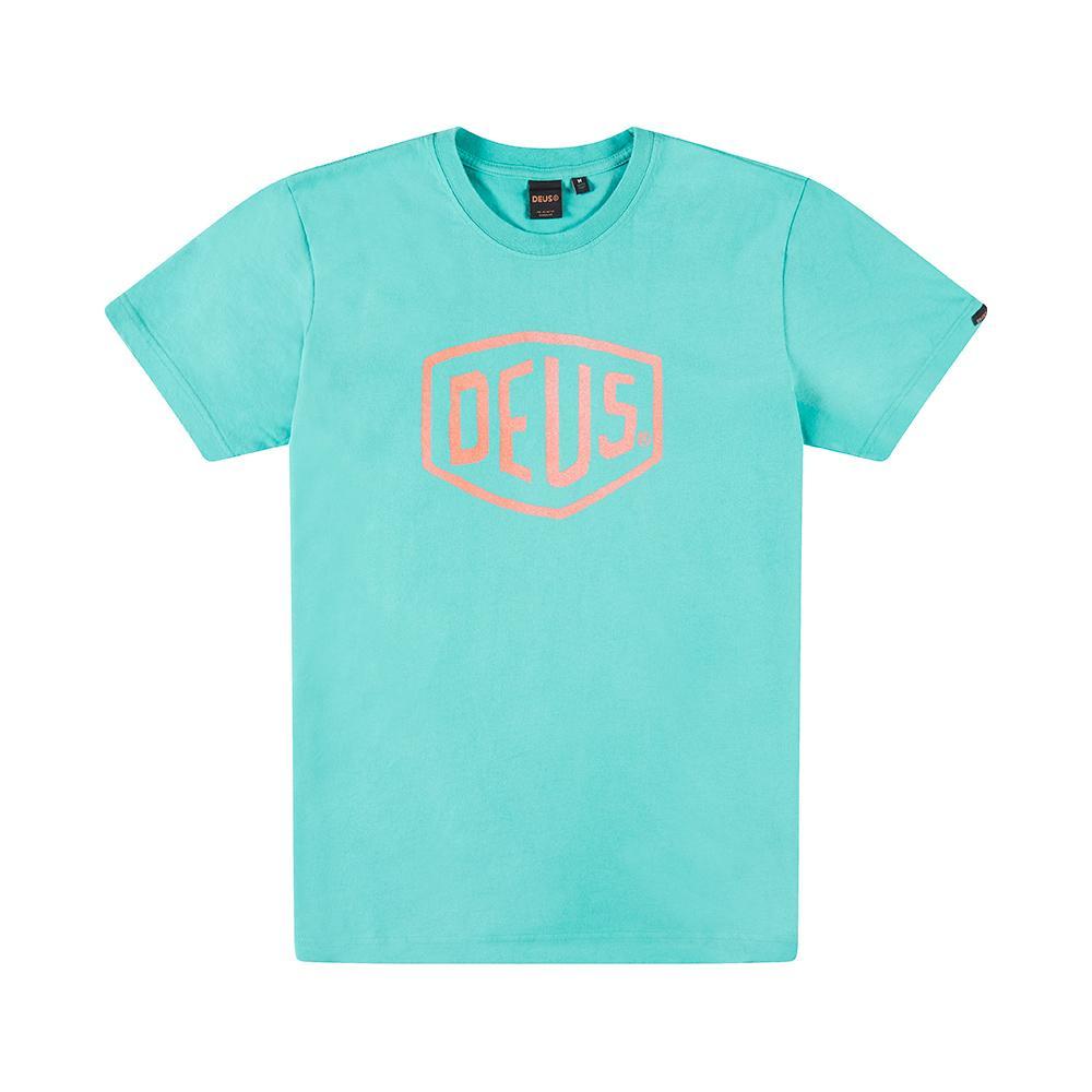 Afbeelding van DEUS Sun Bleached Shield Heren shirt mint
