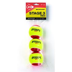 Dunlop JR. Bal voor 12 Meterveld tennisballen rood