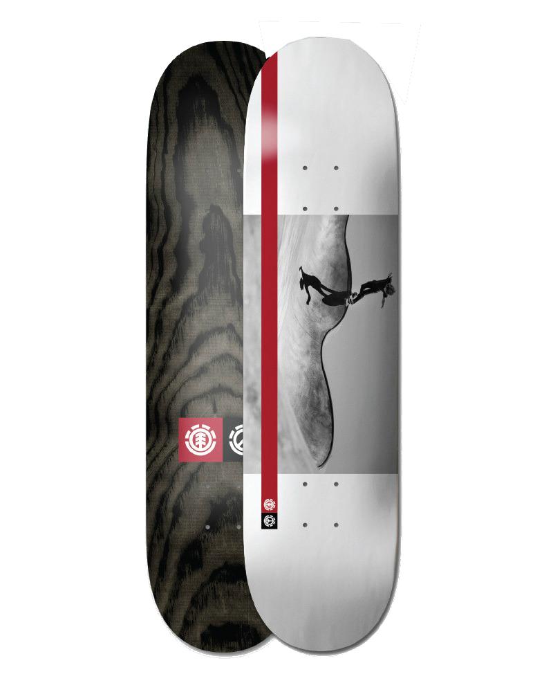 Afbeelding van element Peace Nassim 8.3 Skateboard WIT