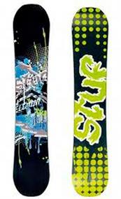 Euretco Sport element jr. all mountain snowboard zwart