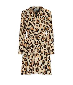 Fabienne Chapot Dorien Dress dames jurk casual bruin dessin