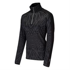 Falcon 2e halve prijs dames ski pulli met rits zwart dessin