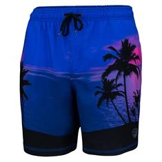 Falcon Dray Blue Palms heren beach short kobalt