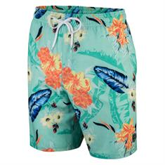 Falcon Dray.flowers heren beach short mint