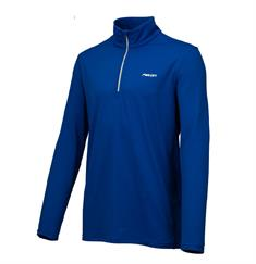 Falcon Haller.Blue junior ski pulli met rits kobalt