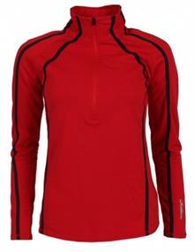 Falcon JENITA.P.Red=L.Rood dames ski pulli met rits rood