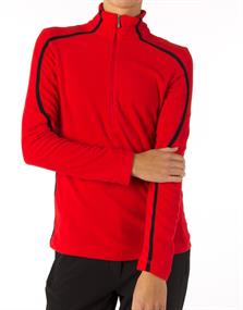 Falcon UMEA.RED R186 junior ski pulli met rits steenrood