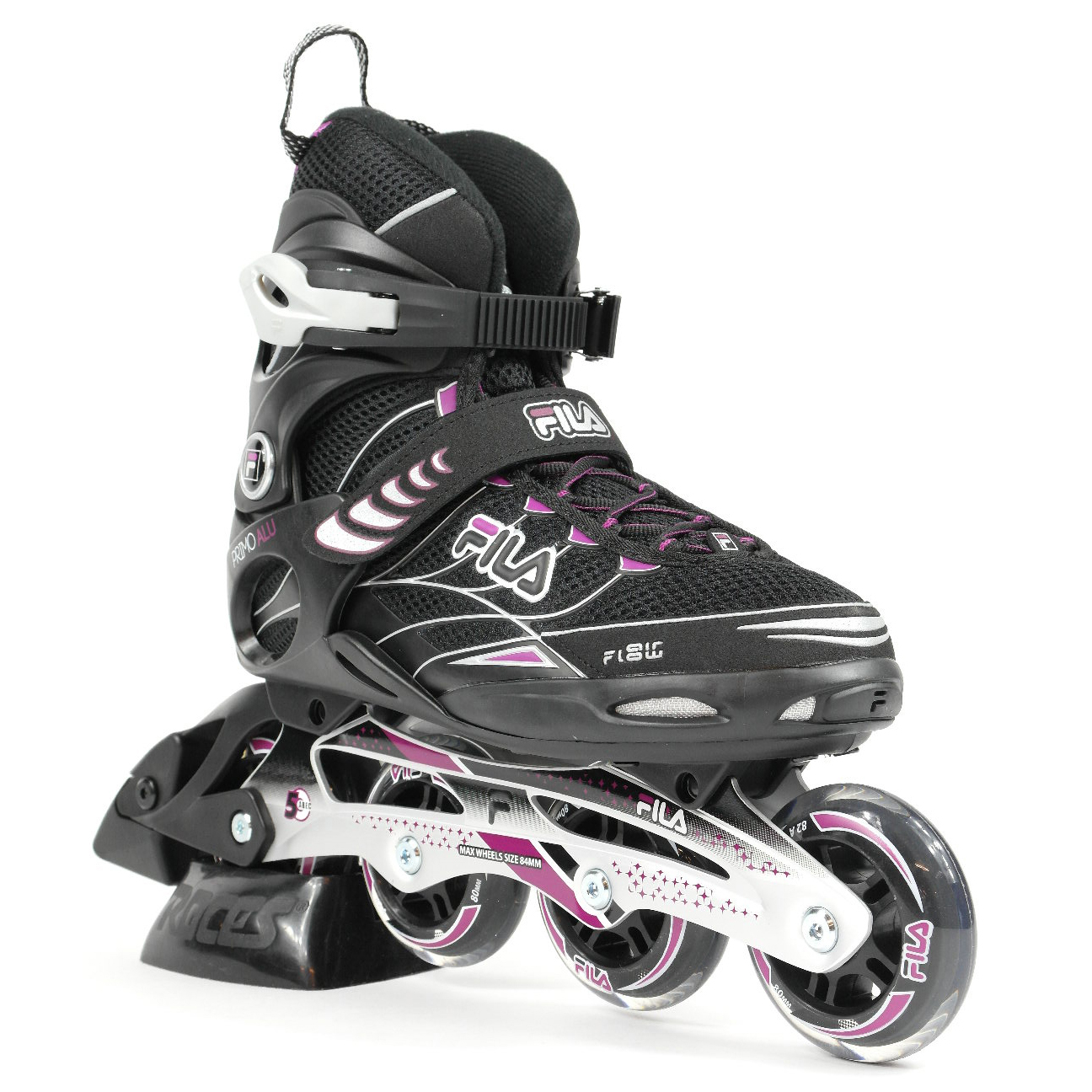 4d84fb8c681 Fila Primo alu lady inline skates / skeelers zwart van inlineskates