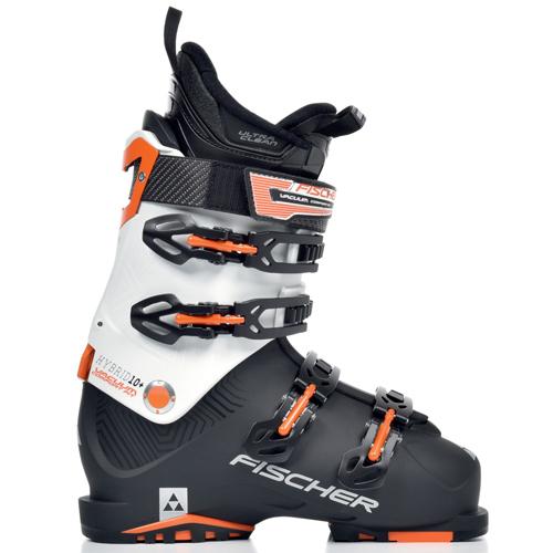 b59b5ccb0f1 Fischer Hybrid 10+ CF U14116 heren skischoenen zwart van skischoenen