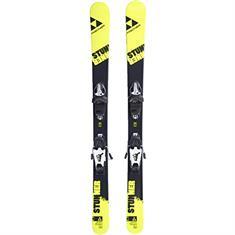 Fischer Incl.binding twintip jr. ski donkergroen