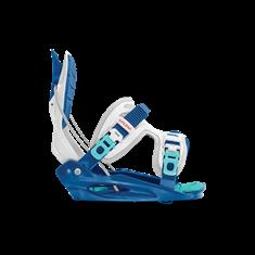Flow Micron Youth White Blue snowboard bindingen wit