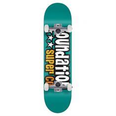 Foundation 3 Star Teal skateboard complete mint