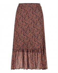 Freebird FIONA dames casual rok bruin dessin