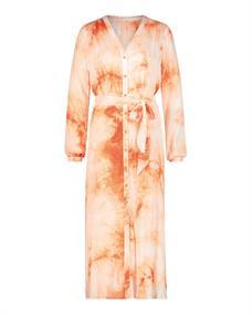 Freebird Vivienne dames jurk casual oranje
