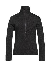 Goldbergh Sparkle dames ski pulli met rits zwart