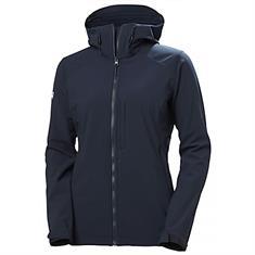 Helly Hansen W Paramount Softshell Hooded Jacket dames softshell marine