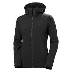 Helly Hansen W Paramount Softshell Hooded Jacket dames softshell zwart