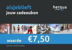Herqua Cadeau Bon 7.50 Euro cadeaubonnen blauw