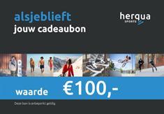 Herqua Cadeaubon 100.00 Euro cadeaubonnen blauw