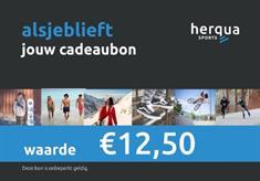 Herqua Cadeaubon 12.50euro cadeaubonnen blauw